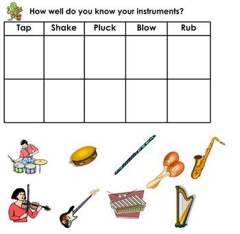 FREE Musical Instrument Sort