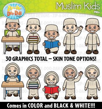 FREE Muslim Kid Characters Clipart {Zip-A-Dee-Doo-Dah Designs}