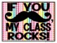 FREE Mustache Signs - Mustache Classroom Theme