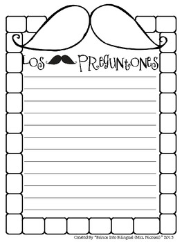 FREE Mustache Writing Spanish & English