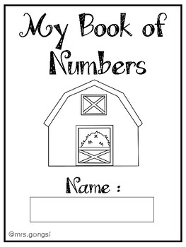 FREE My Book of Numbers 0-10