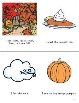 FREE My Fall Five Senses Emergent Reader
