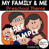 My Family and Me Preschool Theme Worksheets |Activities|Printables FREE