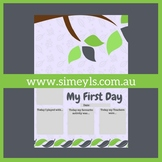 FREE My First Day, Tree. Supports EYLF &/or NQF Australia