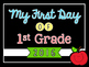 FREE: My First Day of School Sign - Grades K-6