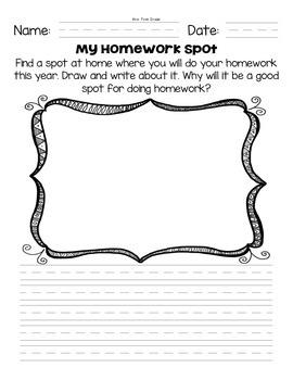 """FREE """"My Homework Spot"""""""