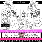 FREE My Little Outer Space coloring book - Printable - by Melonheadz Clipart