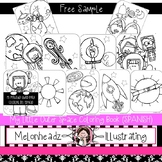 FREE My Little Outer Space coloring page -PRINTABLE-Melonheadz Clipart (SPANISH)