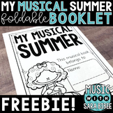 FREE! My Musical Summer Foldable Booklet