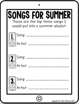 FREE! My Musical Summer Foldable Booklet (Upper Elem/MS)