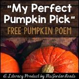 FREE Pumpkin Poem for Fall