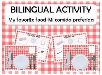 FREE My favorite food-mi comida preferida english spanish