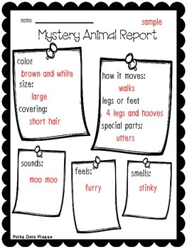 FREE Mystery Animal Descriptive Writing Activity