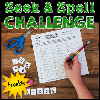FREE Word Work Activity   Seek and Spell Challenge