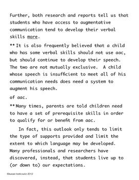 FREE Myths of Augmentative Communication Handout SLPs  Parents Teachers