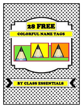 28 FREE Colorful Name Tags-Download and Print