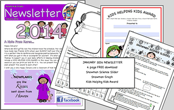 FREE NEWSLETTER January Ideas & Printables