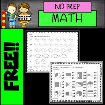 FREE NO PREP Fraction Printables
