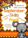 *NO PREP* September Learning Skills Packet