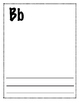 FREE - NO PREP WRITING PAGES FOR CLASS ABC BOOK