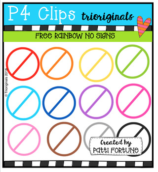 FREE NO Signs (P4 Clips Trioriginals Digital Clip Art)