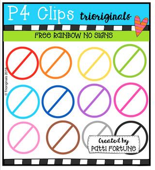 FREE NO Signs (P4 Clips Trioriginals Digital Clip Art)