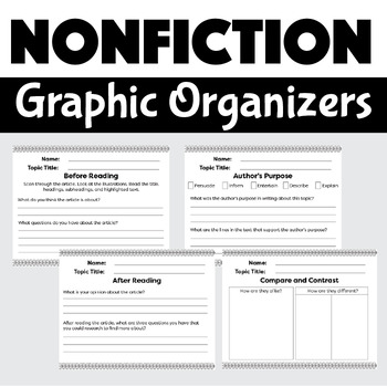 Graphic Organizers for Writing Nonfiction
