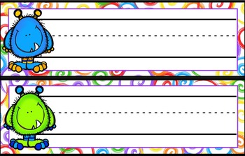 FREE Name Tags with Different Characters