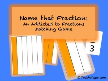 FREE Name that Fraction:  An Addicted to Fractions Matching Game