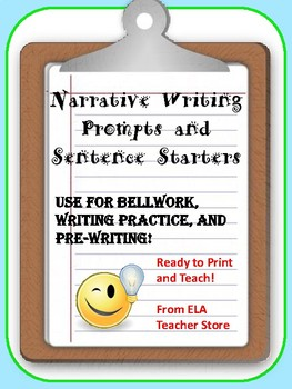 FREE Narrative Writing Prompts and Sentence Starters