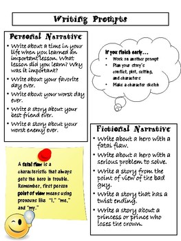 personal narrative starters
