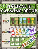 FREE Natural & Calming Decor Companion POSTERS: shapes, colours, numbers