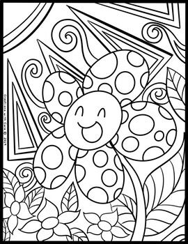 FREE Nature and Friends Coloring Book by Creations with Care Clipart