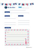 FREE! Nautical Themed New Words Worksheet- Vocabulary Exercise