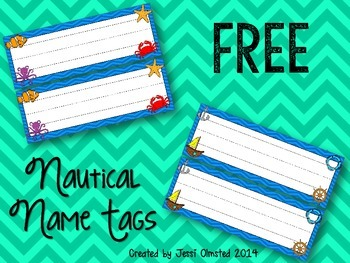 {FREE} Nautical / Under the Sea Name Tags