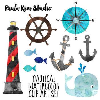 FREE Nautical Watercolor Clip Art