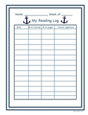 Nautical Weekly Reading Log
