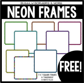FREE Neon Square Frames