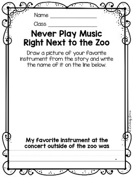 FREE - Never Play Music Right Next to the Zoo {music sub mini lesson}