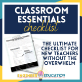 FREE New Teacher Classroom Setup Checklist: Secondary Teachers