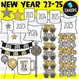 FREE New Year 2021 Clip Art Set {Educlips Clipart}