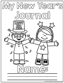 FREE New Year NO PREP Journal Prompts for Beginning Writers