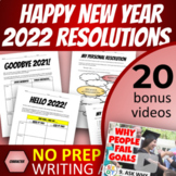 FREE New Year's Resolutions Writing Assignment Handouts & Rubric