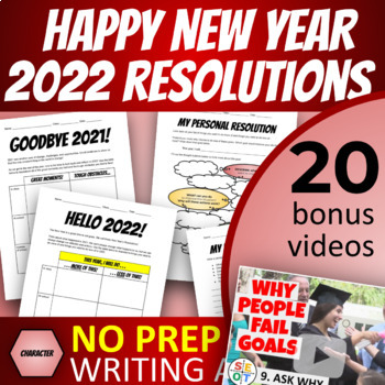 FREE Goal Setting Writing Assignment Handouts (beyond 2020 New Year Resolutions)