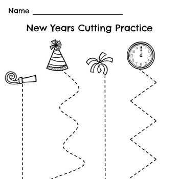 FREE New Years Cutting Practice
