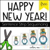 New Year's Cut & Paste Sequencing Acitivty