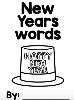FREE New Years Words Mini Book