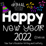 New Year's Resolutions Writing Craftivity *updated for 2018