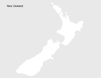New Zealand Map Labeled.Free New Zealand Geography Outline Map By The Harstad Collection
