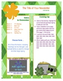FREE Newsletter Template - St Patty's Theme
